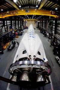 Falcon 9 v1.1 in factory
